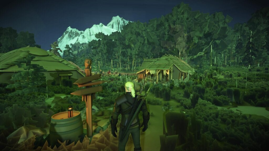 Witcher 3   3DS Game? New Mod Makes It (Graphically) Real and We're