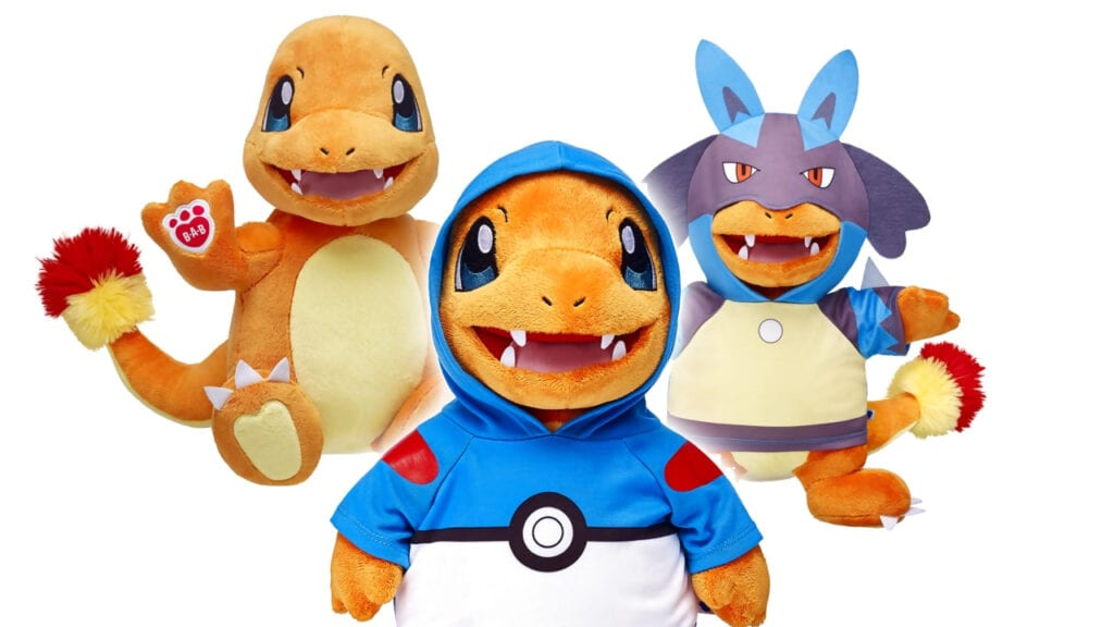 build a bear now offering an adorable charmander more pokemon line