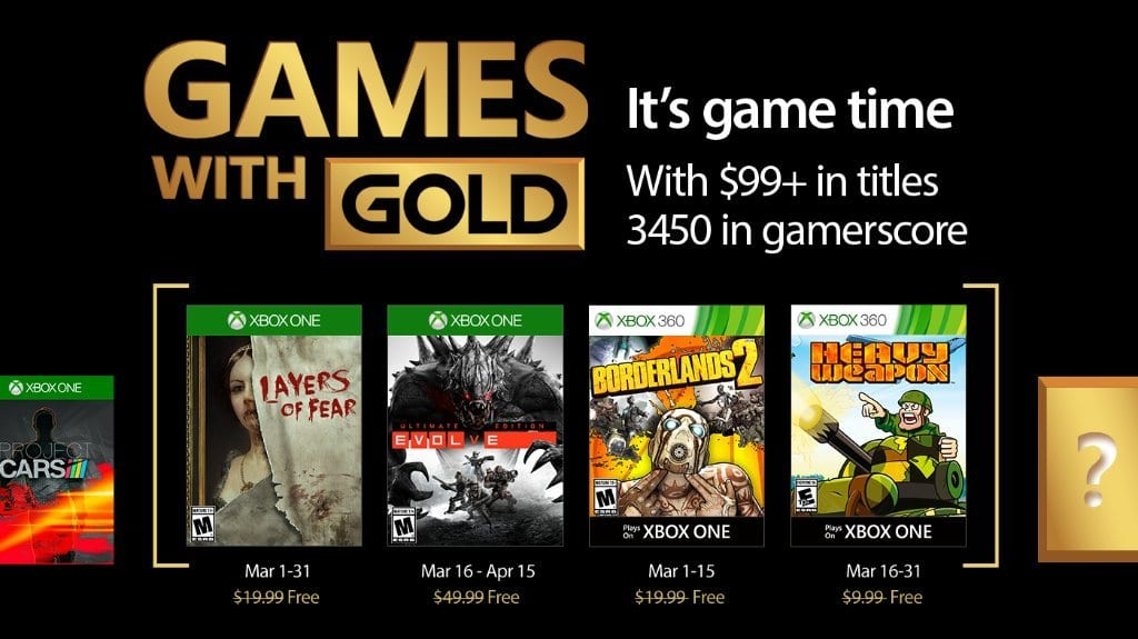 Free Xbox One/Xbox 360 Games with Gold