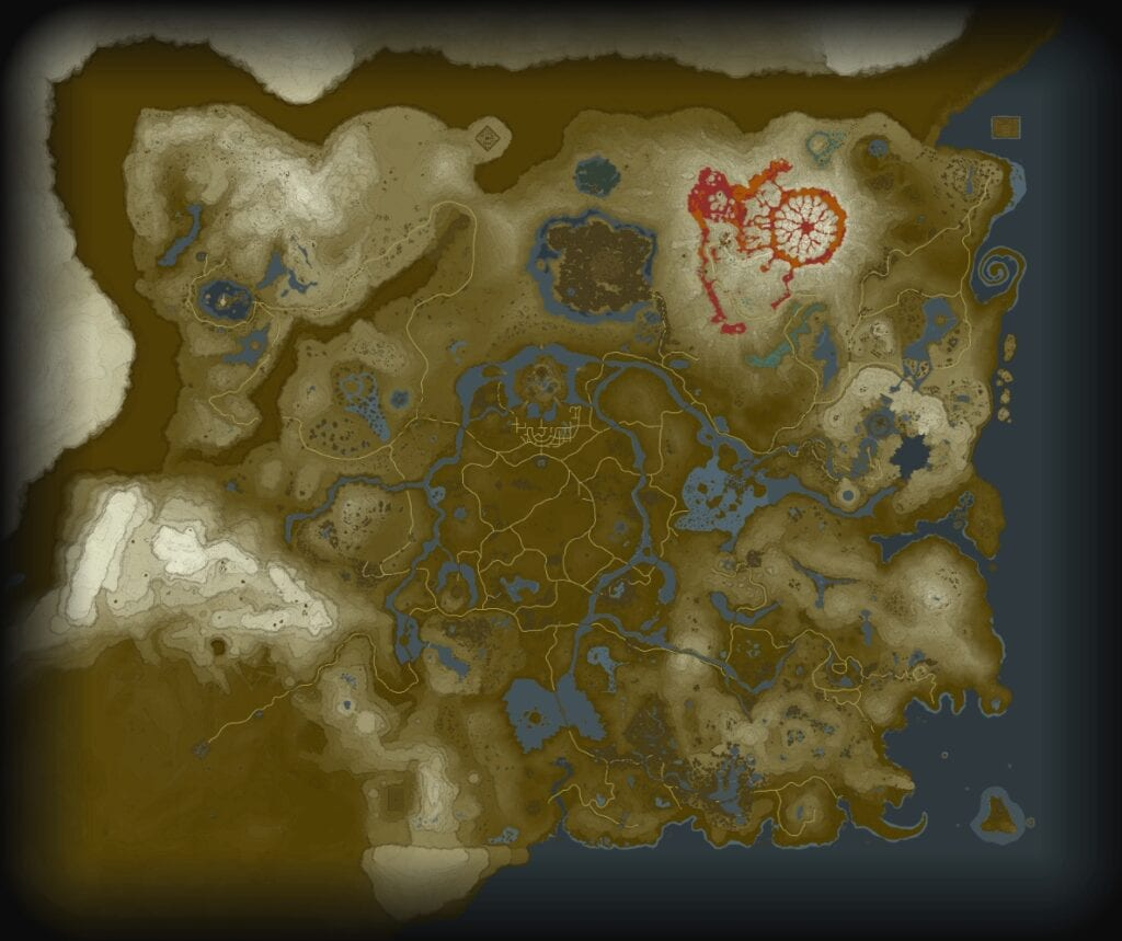 The legend of zelda breath of the wild world map revealed the map was posted on the gamefaqs forum there are no legends keys or major indicators signifying key areas or locations but its quite obvious that gumiabroncs Choice Image