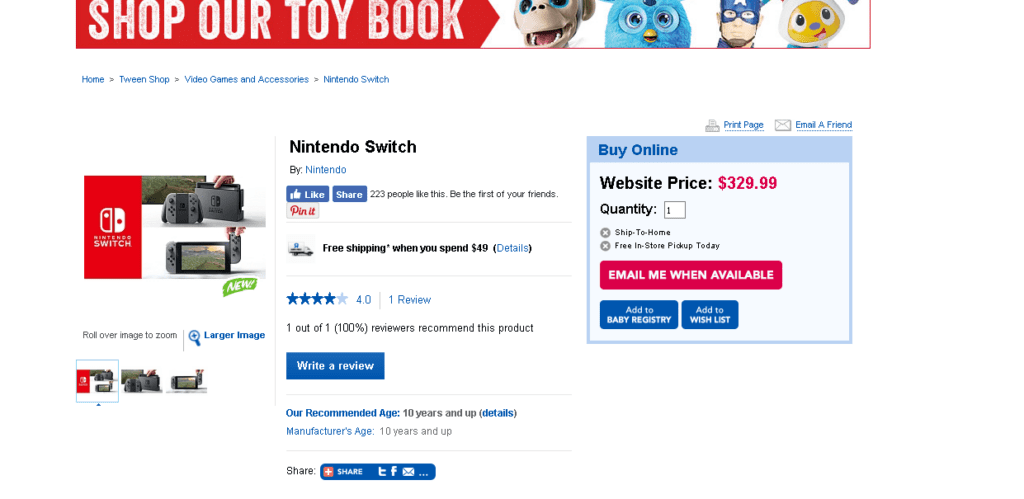 01d17045168993 There is no word yet on future restockings or even whether this restocking  will apply to the Toys R Us website, which is currently sold out of both  Joy-Con ...