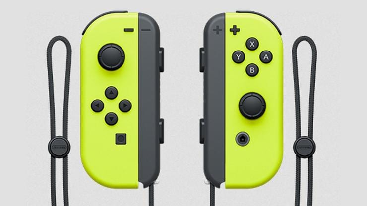 Standalone Nintendo Switch Dock and Yellow Joy-Cons