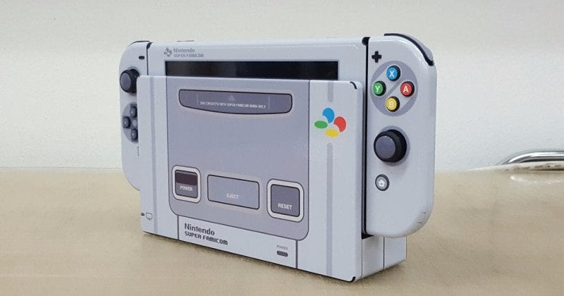 Super Famicom Themed Nintendo Switch