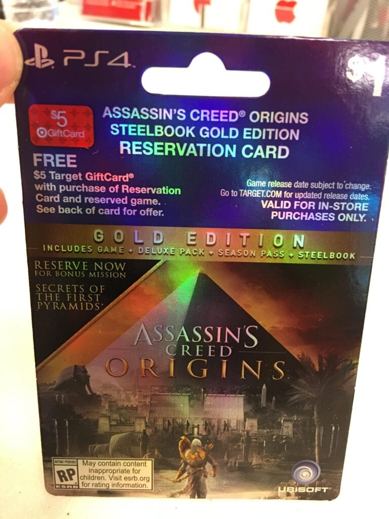 Assassin's Creed Origins Seemingly Exposed by Retail Leak - Gold ...