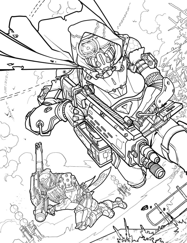 Official Destiny Coloring Book By Bungie Is Scheduled To