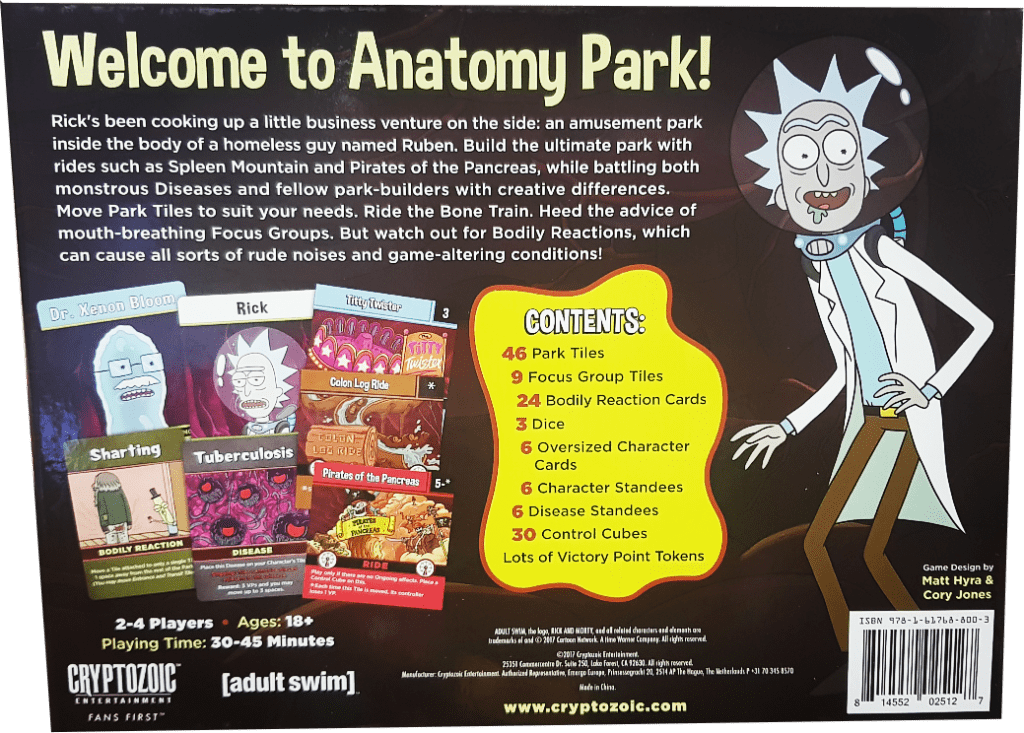 New Rick And Morty Board Game Lets You Get Schwifty In Anatomy Park