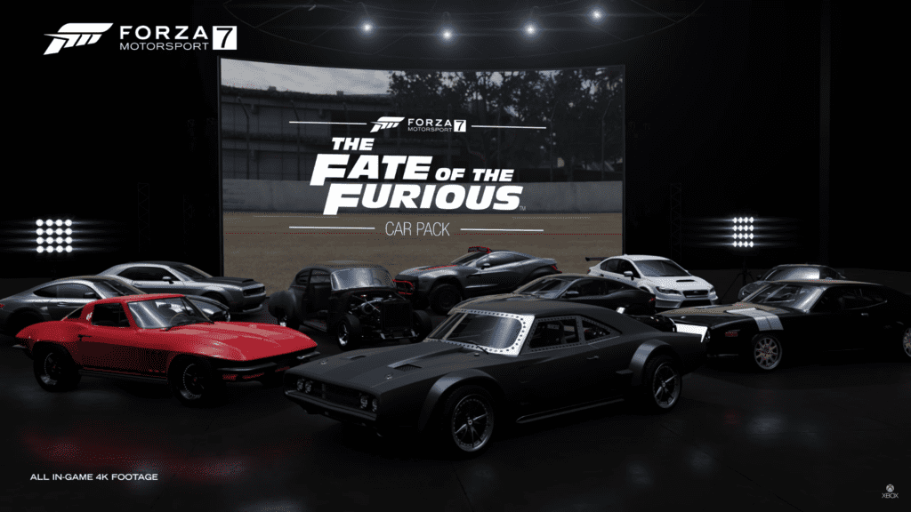 forza motorsport 7 39 s fate of the furious dlc pack brings. Black Bedroom Furniture Sets. Home Design Ideas