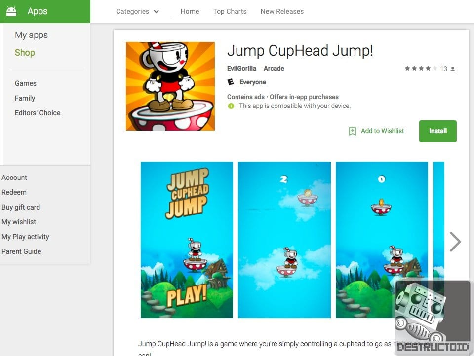 Bootleg Cuphead Games Are Flooding The Android App Market