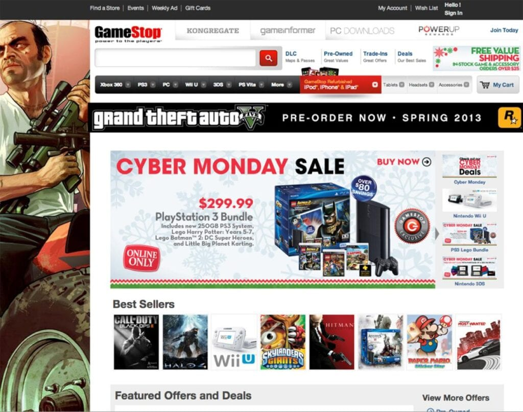 GameStop Cyber Monday 2017
