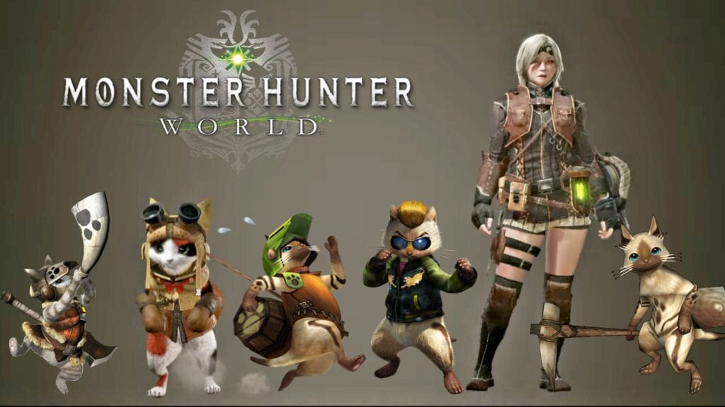 Anime Characters Monster Hunter World : New monster hunter world videos show reckless palicoes and