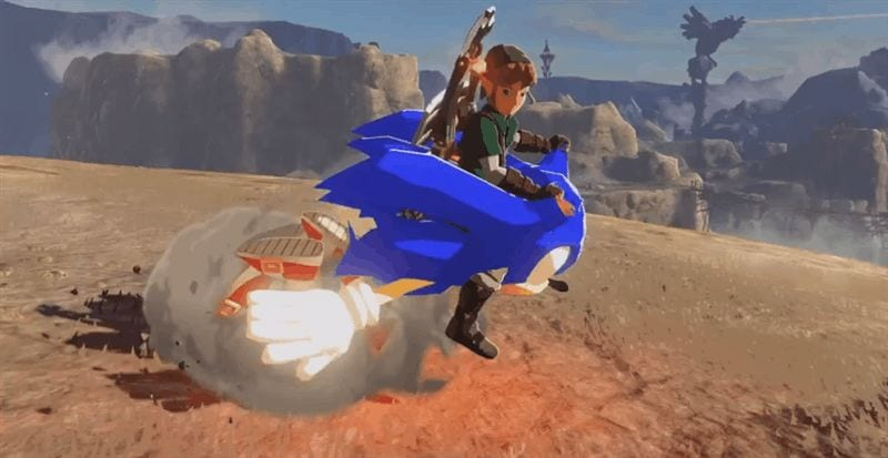 Zelda Breath Of The Wild Master Cycle: WATCH: New Master Cycle Zero Mod Brings Sonic Into Breath