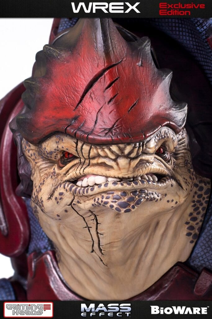 Mass Effect Urdnot Wrex Limited Edition Statue Available Now For Pre