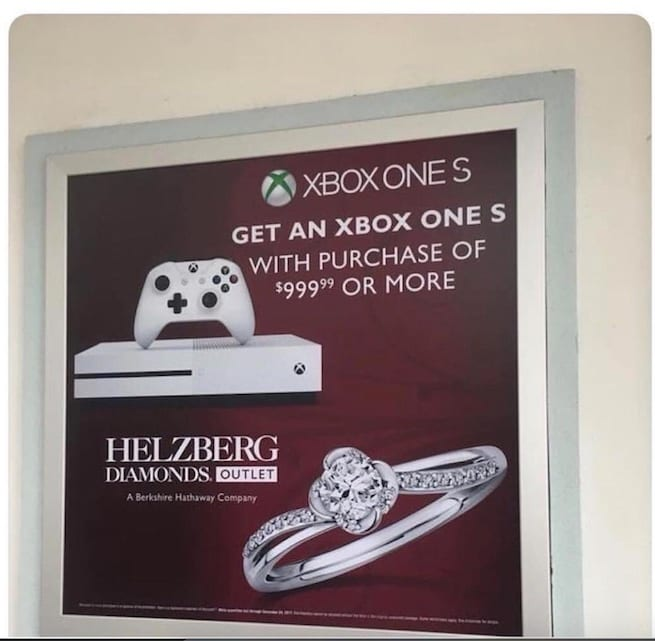 Buy An Engagement Ring, Get A Free Xbox One S System With