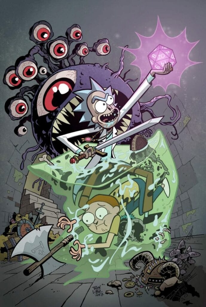 rick and morty dungeons dragons crossover comic announced