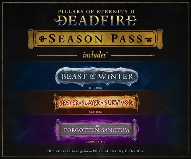 Pillars Of Eternity II: Deadfire Post-Launch Expansions Revealed