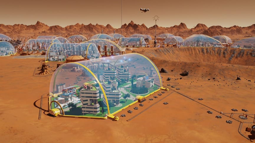Surviving Mars Update Adds New Space Domes, Command Center, And More
