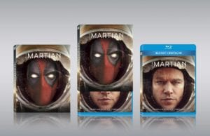 Deadpool photobomb covers martian