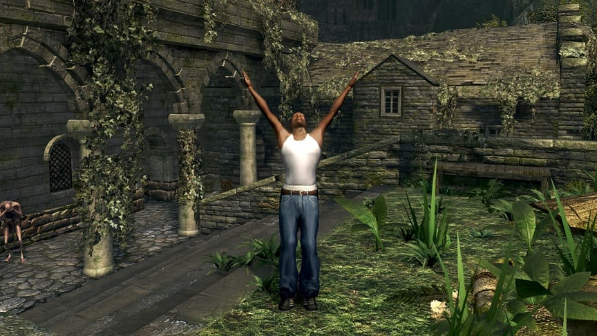 Hilarious Dark Souls Mod Brings GTA San Andreas' CJ To Lordran