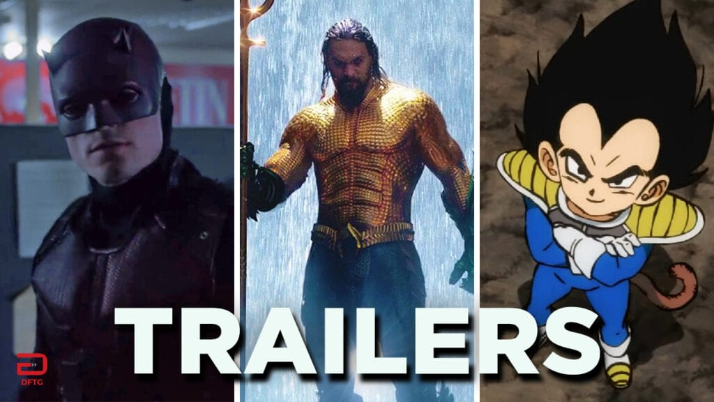 DFTG Movie TV Trailers October 10 Daredevil Aquaman Dragon Ball Super Broly