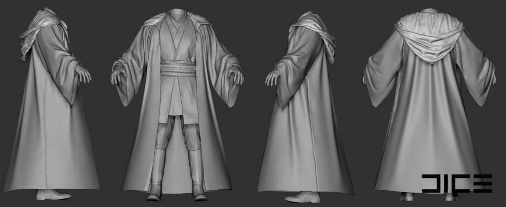 Star Wars Battlefront II Obi Wan Robes