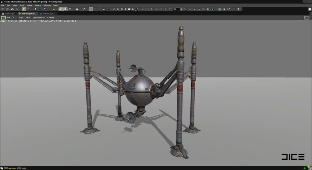 Star Wars Battlefront II Spider Droid