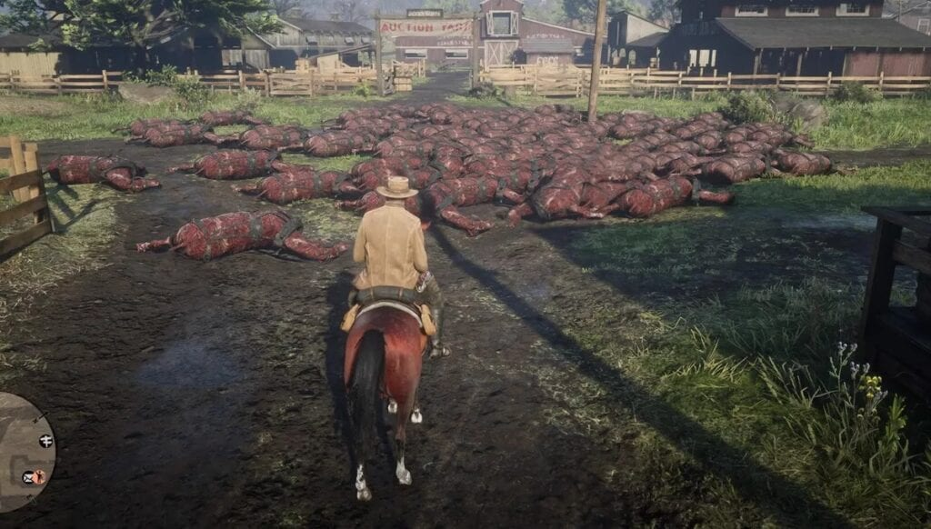 Red Dead Online Players Are Finding Random Piles Of Dead Horses