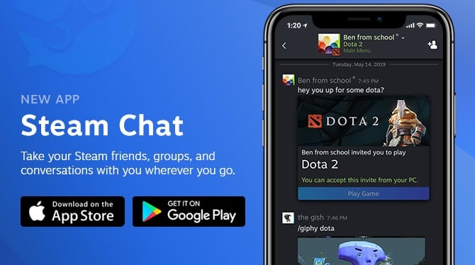 Steam Chat Receives Dedicated App For Android, iOS