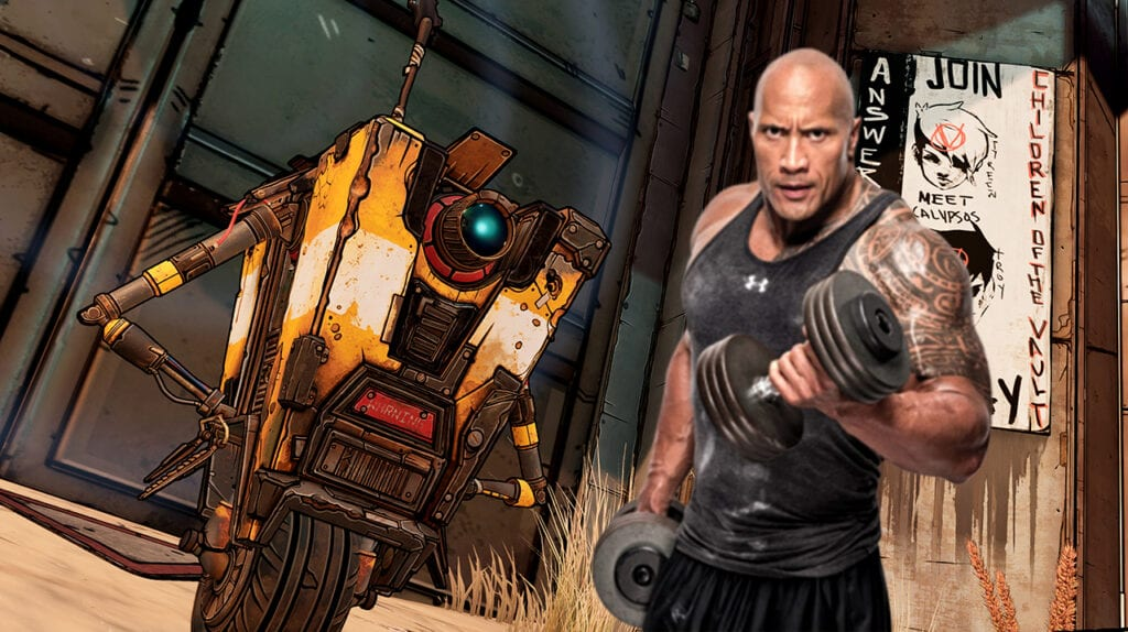 Borderlands 3 Movie Claptrap The Rock