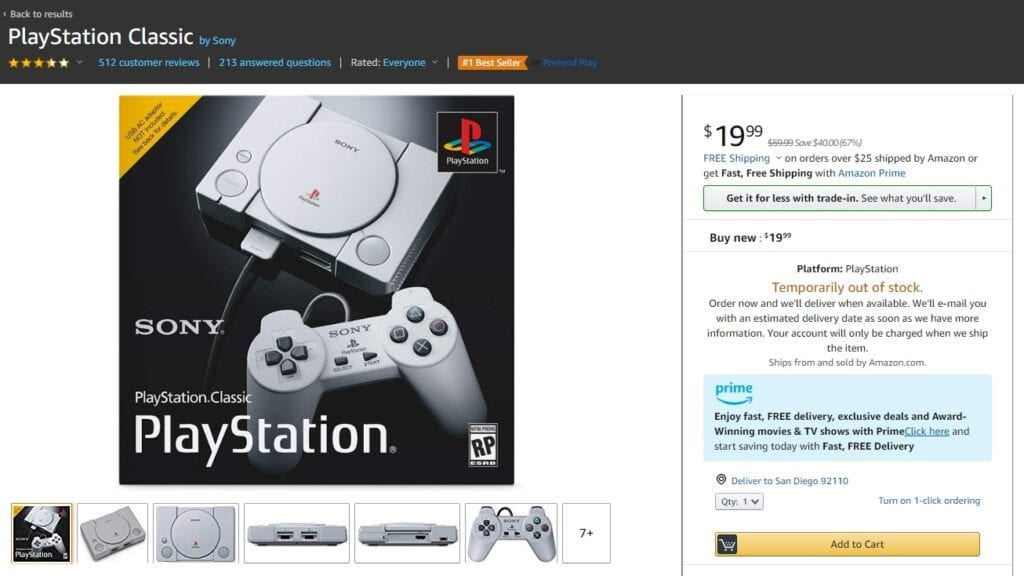 Buying Sony Playstation Classic Drops - Querciacb